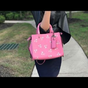 New coach pink floral leather 1941 Rouge 25